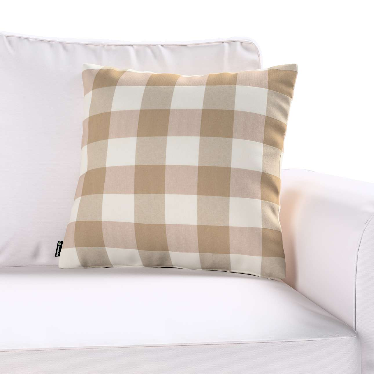 Poszewka Kinga na poduszkę w kolekcji Quadro, tkanina: 136-08