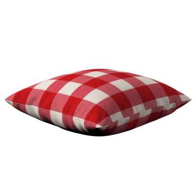 Poszewka Kinga na poduszkę 136-18 czerwono biała krata (5,5x5,5cm) Kolekcja Quadro
