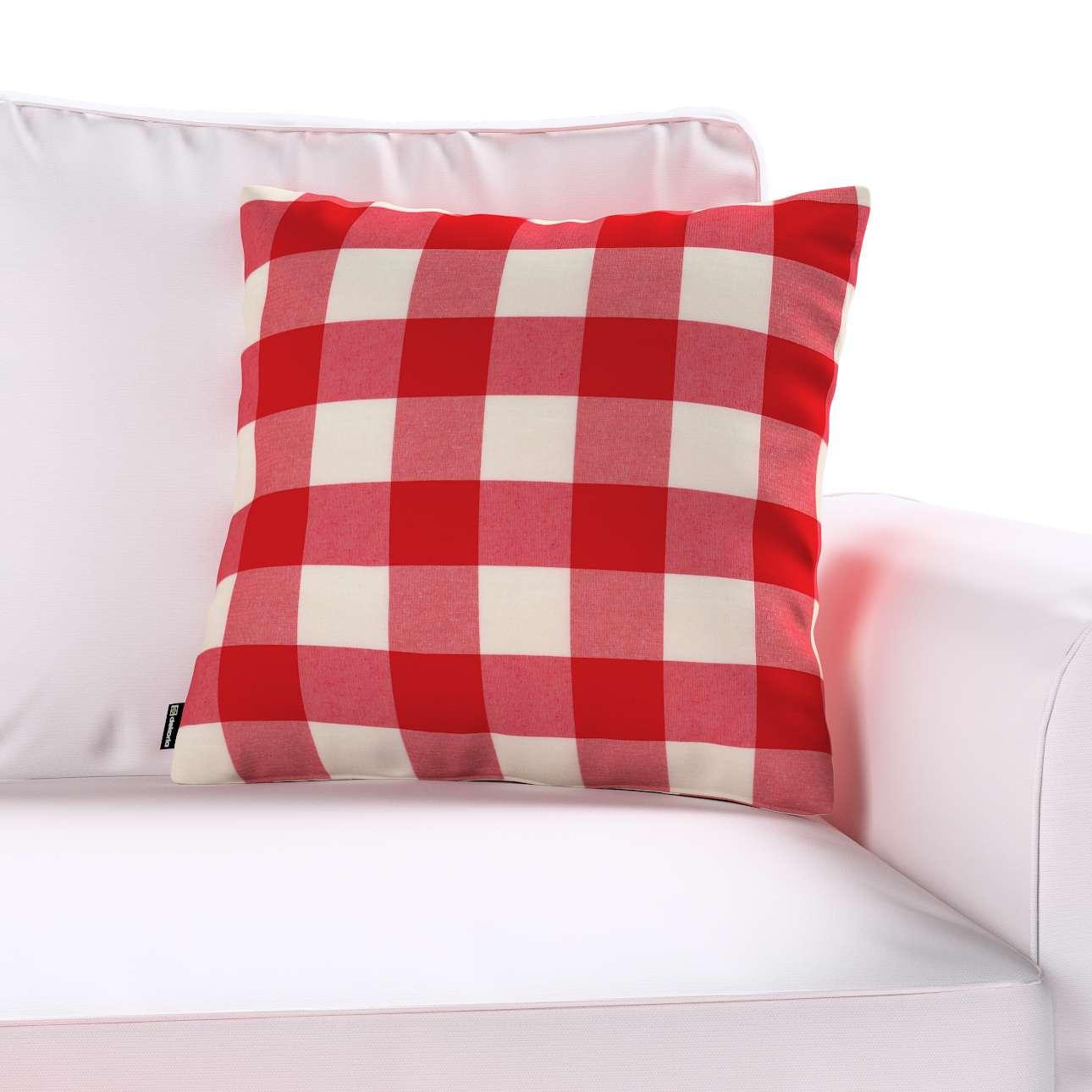 Poszewka Kinga na poduszkę w kolekcji Quadro, tkanina: 136-18