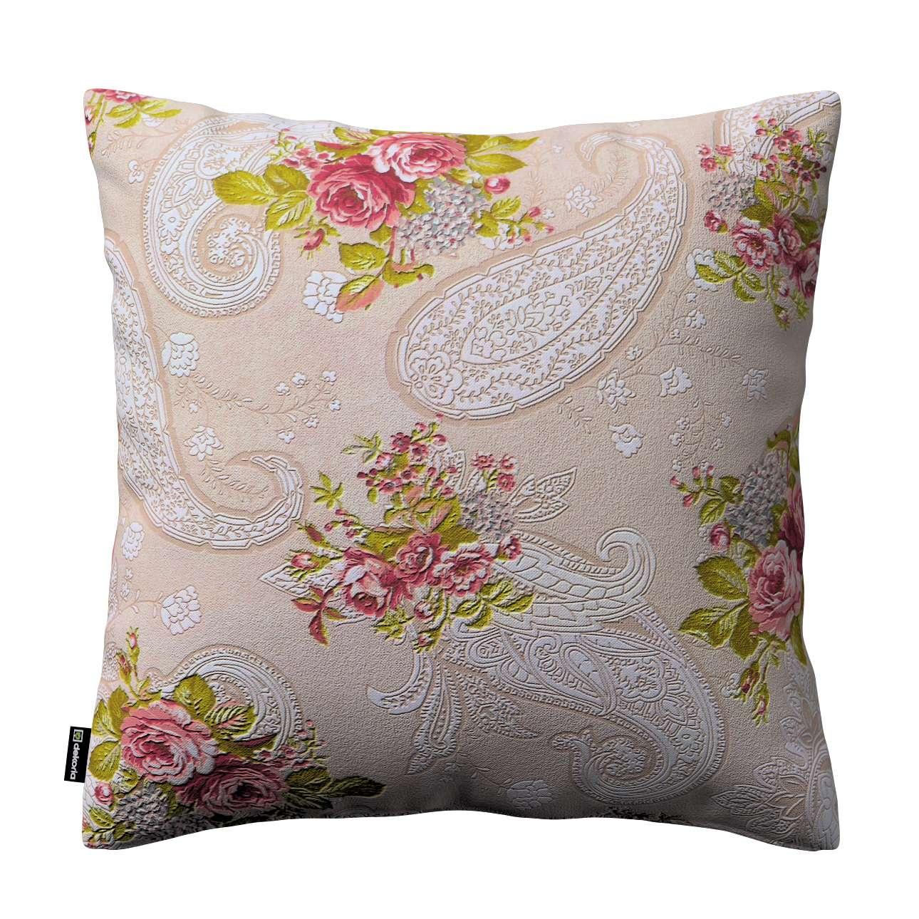 Poszewka Kinga na poduszkę 43 x 43 cm w kolekcji Flowers, tkanina: 311-15
