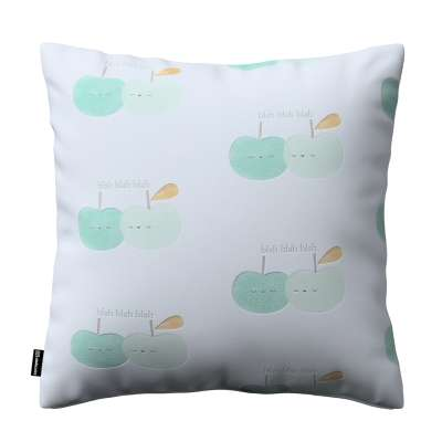 Kinga cushion cover 151-02 light green apples on white background Collection Little World