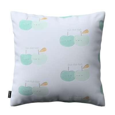Poszewka Kinga na poduszkę 151-02 pastelowo zielone jabłuszka na białym tle Kolekcja Little World