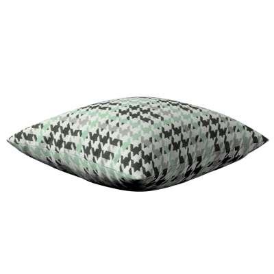Poszewka Kinga na poduszkę 137-77 miętowo-czarna pepitka Kolekcja do -50%