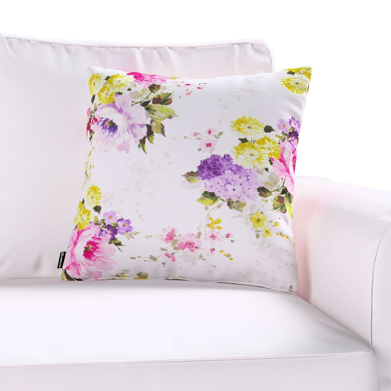 Kinga cushion cover 43 x 43 cm (17 x 17 inch) in collection Monet, fabric: 140-00