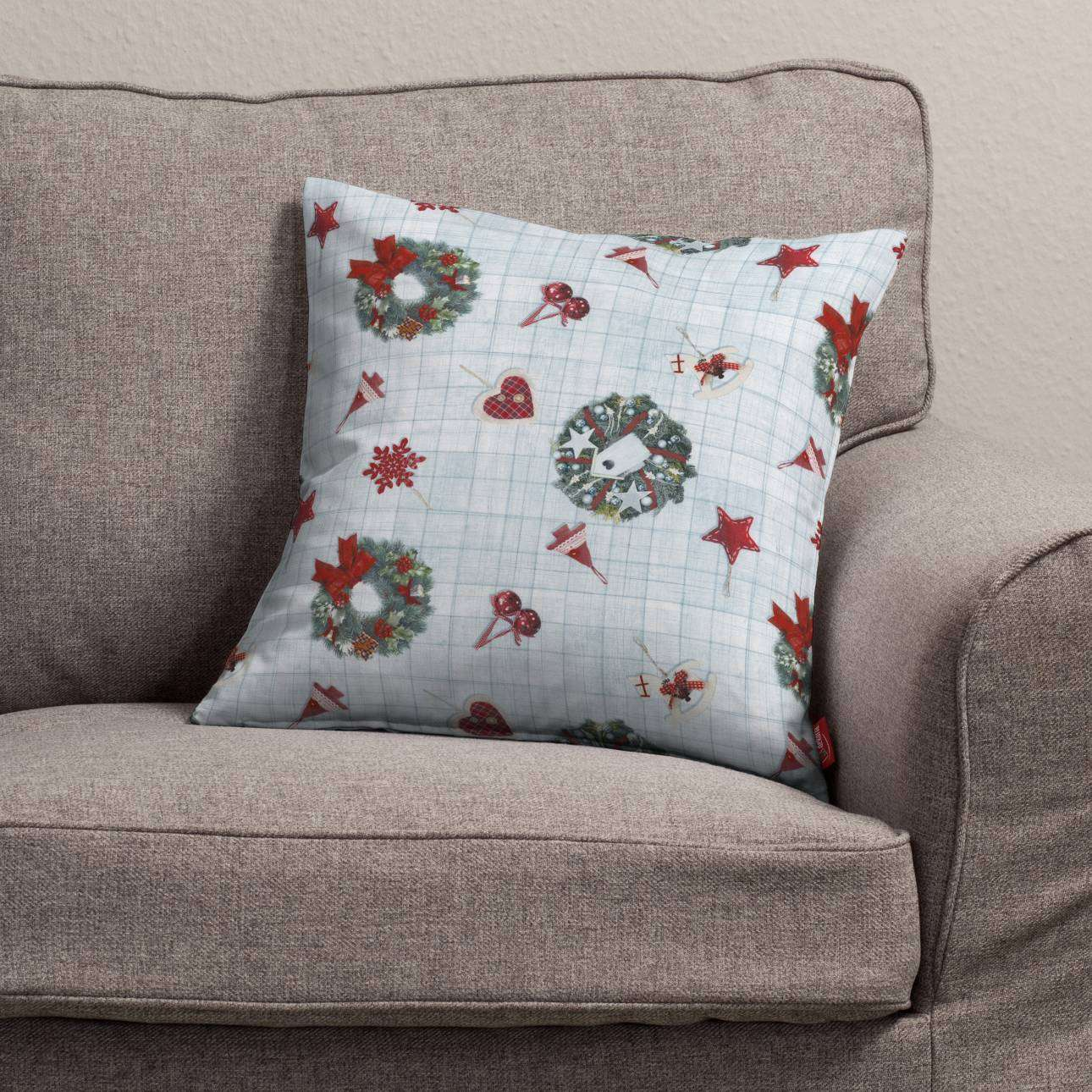 Kinga cushion cover 43 x 43 cm (17 x 17 inch) in collection Christmas, fabric: 629-26