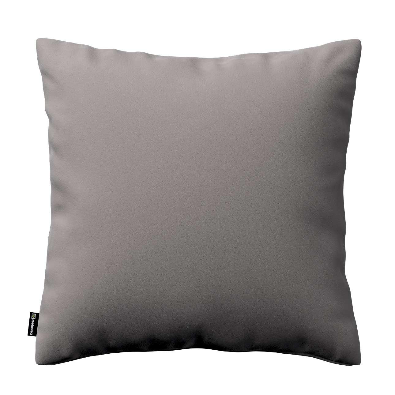 Kissenhülle Kinga, grau, 50 × 50 cm, Velvet