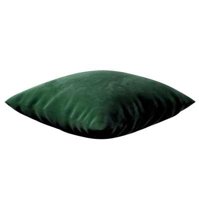 Kinga - potah na polštář jednoduchý 704-13 lahvová zeleň Kolekce Velvet