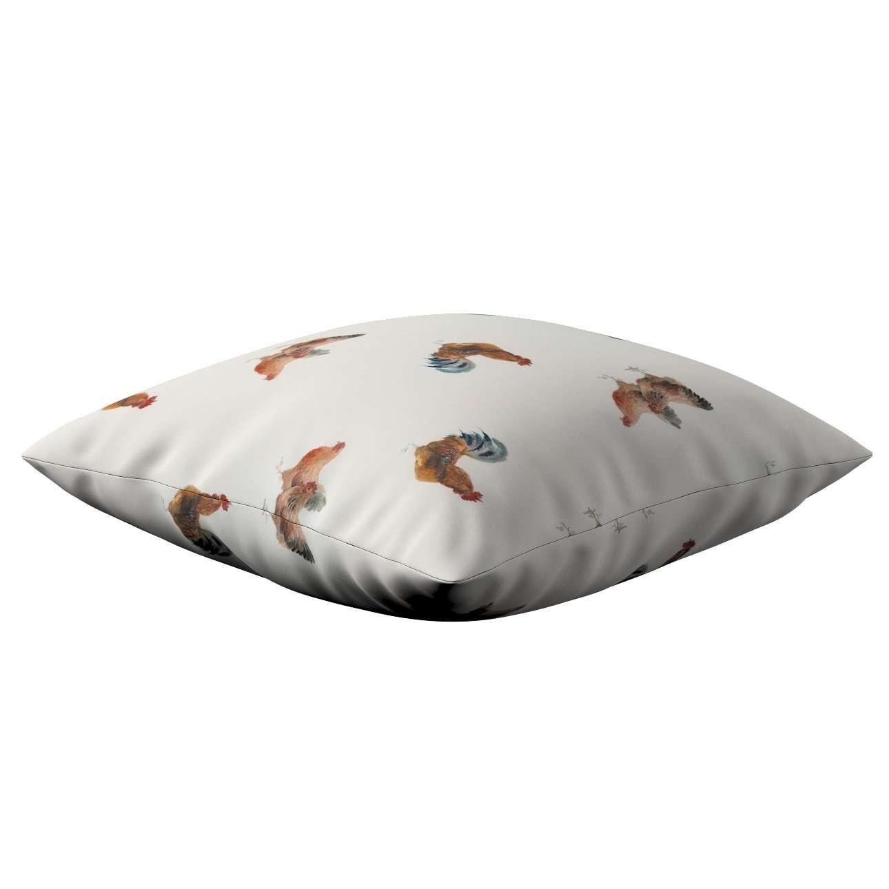 Poszewka Kinga na poduszkę w kolekcji Flowers, tkanina: 141-80