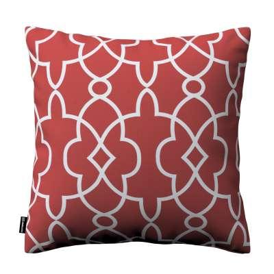 Poszewka Kinga na poduszkę 142-21 czerwony w biały marokański wzór Kolekcja Gardenia