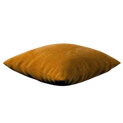 Kinga - potah na polštář jednoduchý 704-23 medová Kolekce Velvet