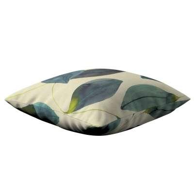 Karin - jednoduchá obliečka 143-15 smaragdovo - zelené listy s fialovým nádychom na plátne Kolekcia Abigail