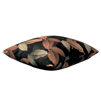Karin - jednoduchá obliečka 143-21 borskyňovo - hnedé listy na čiernom pozadí Kolekcia Abigail