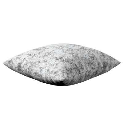 Poszewka Kinga na poduszkę 704-49 szaro-biały Kolekcja Velvet