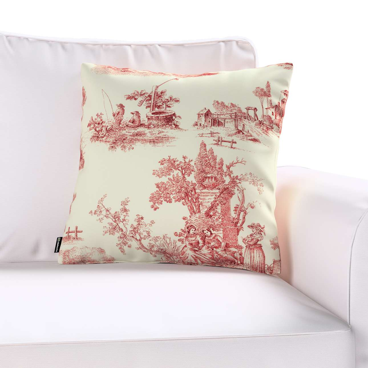 Kinga cushion cover 43 x 43 cm (17 x 17 inch) in collection Avinon, fabric: 132-15