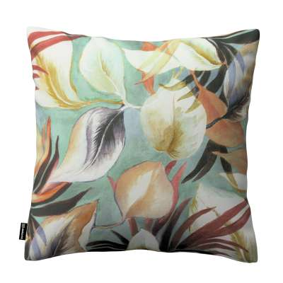 Kinga cushion cover 143-61 orange-claret-yellow, mint background Collection Abigail