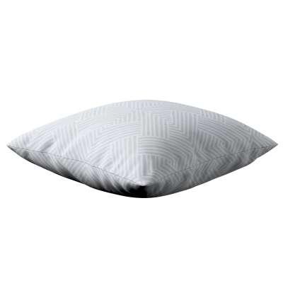 Poszewka Kinga na poduszkę 143-43 szaro-białe wzory geometryczne Kolekcja Sunny