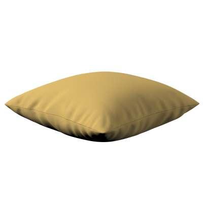 Kinga dekoratyvinės pagalvėlės užvalkalas 702-41 prigesinta geltona Kolekcija Cotton Panama