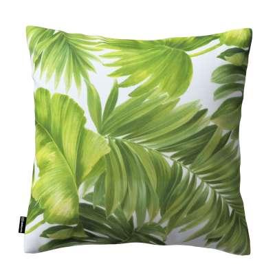 Karin - jednoduchá obliečka 143-63 seledynowe liście na białym tle Kolekcia Tropical Island