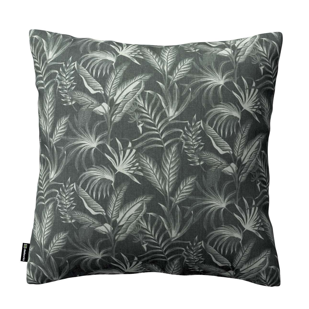 Dekoria Kinga - potah na polštář jednoduchý, listy na černém pozadí, 60 × 60 cm, Flowers, 143-73