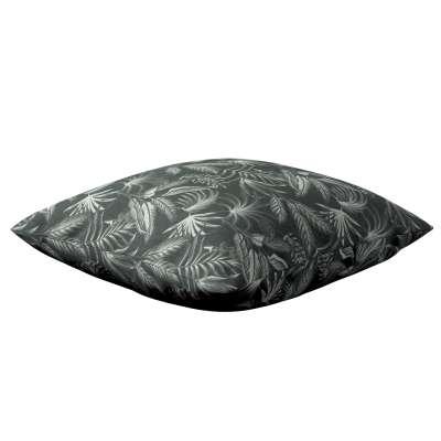 Poszewka Kinga na poduszkę 143-73 liście na czarnym tle Kolekcja Flowers