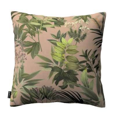 Poszewka Kinga na poduszkę 143-71 zielona roślinność na brudnoróżowym tle Kolekcja Tropical Island