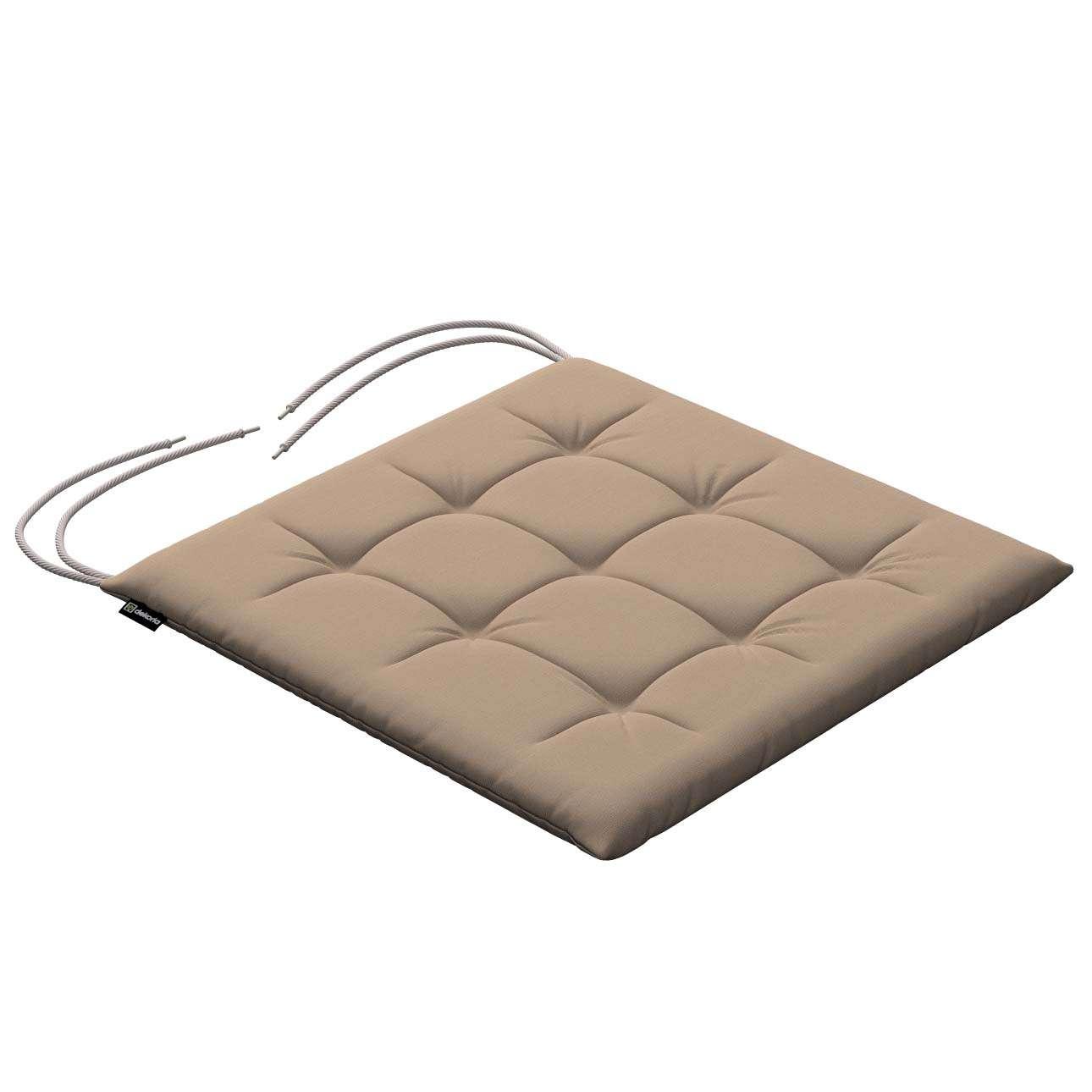 Siedzisko Karol na krzesło 40x40x3,5cm w kolekcji Cotton Panama, tkanina: 702-28