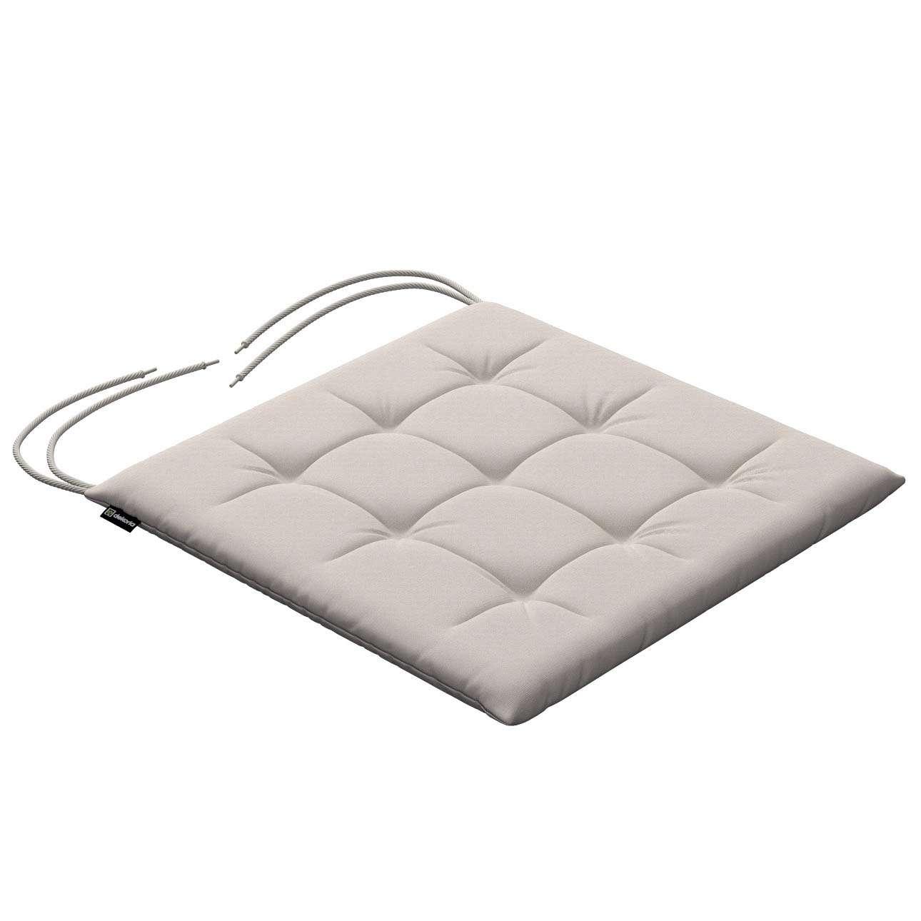 Siedzisko Karol na krzesło 40x40x3,5cm w kolekcji Cotton Panama, tkanina: 702-31