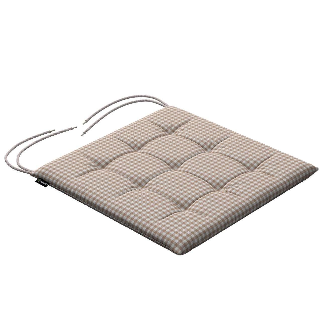Siedzisko Karol na krzesło 40x40x3,5cm w kolekcji Quadro, tkanina: 136-05
