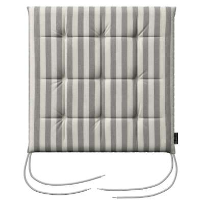 Siedzisko Karol na krzesło 136-12 szaro białe pasy (1,5cm) Kolekcja Quadro