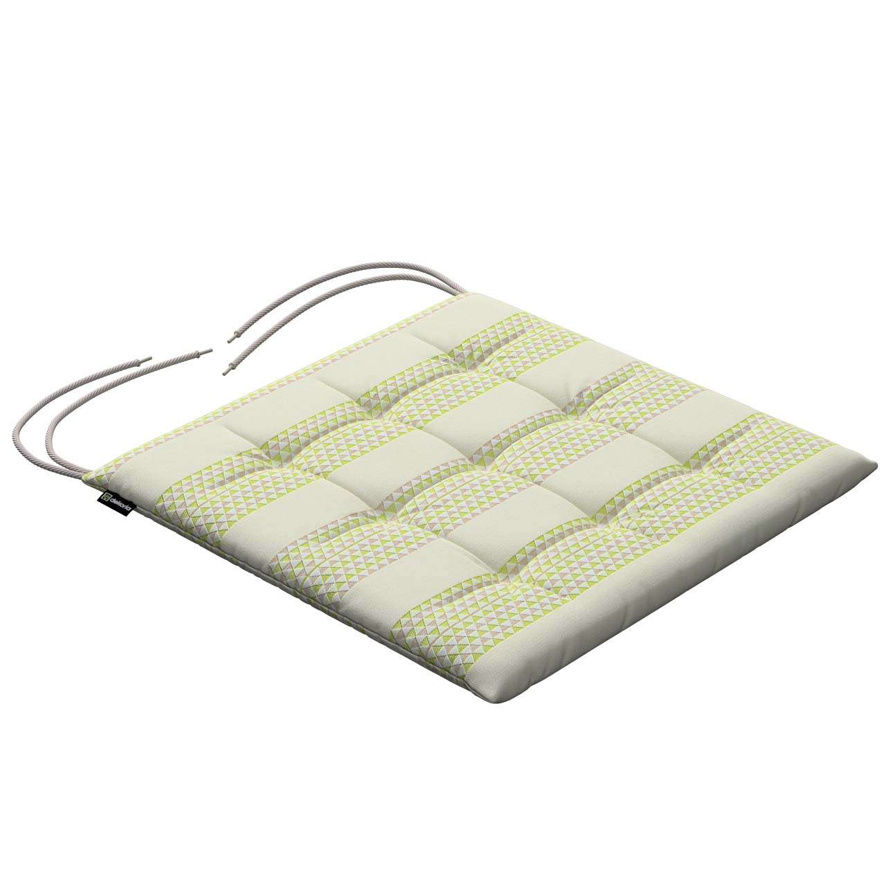 Karol seat cushion with ties 40 x 40 x 3,5 cm (16 x 16 x1,5 inch) in collection Rustica, fabric: 140-35