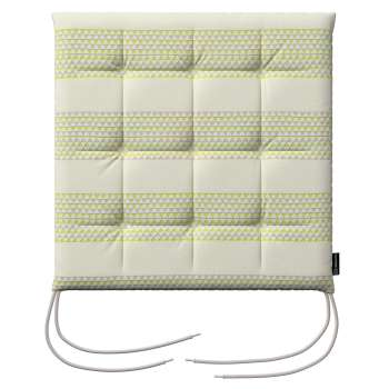 Karol seat pad with ties 40 x 40 x 3,5 cm (16 x 16 x1,5 inch) in collection Rustica, fabric: 140-35