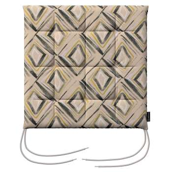 Charles seat pad with ties in collection Londres, fabric: 140-46