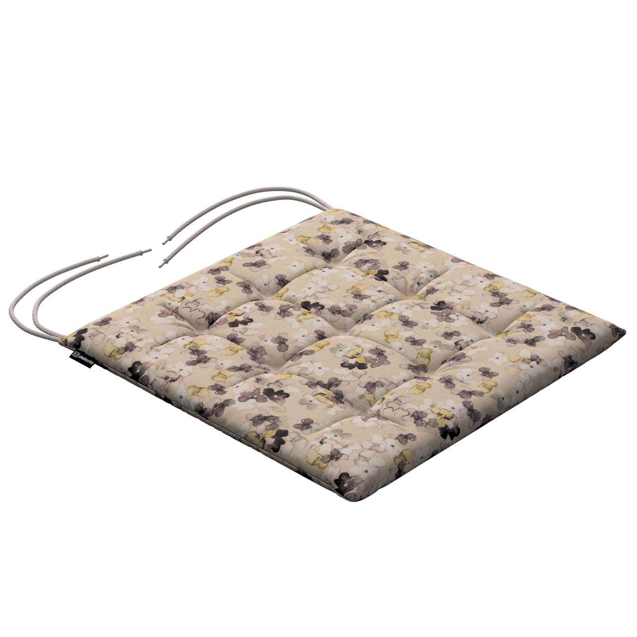 Karol seat pad with ties 40 x 40 x 3,5 cm (16 x 16 x1,5 inch) in collection Londres, fabric: 140-48