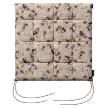 Karol seat cushion with ties 40 x 40 x 3,5 cm (16 x 16 x1,5 inch) in collection Londres, fabric: 140-48