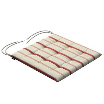 Siedzisko Karol na krzesło 129-15 ecru tło, czerwone paski Kolekcja Avinon