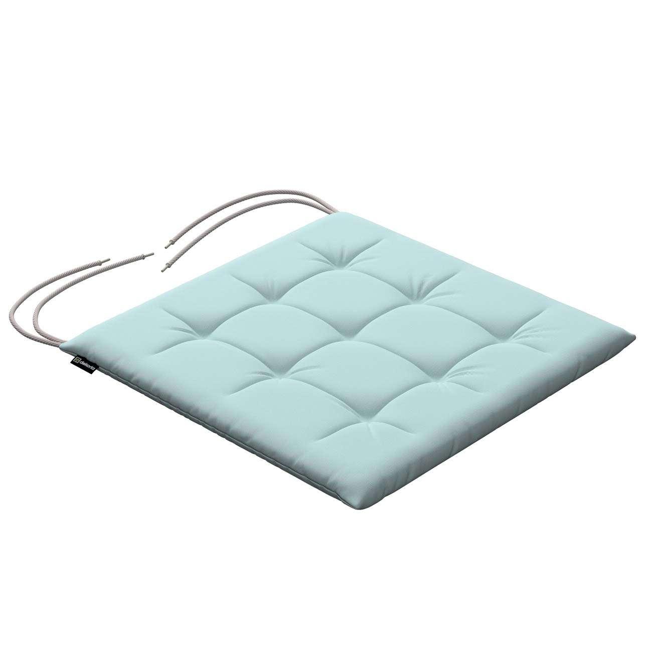 Stuhlkissen Ulrich mit Bindeschnur, hellblau, 40 × 40 × 3,5 cm, Cotton Panama | Heimtextilien > Decken und Kissen > Kissen | Dekoria