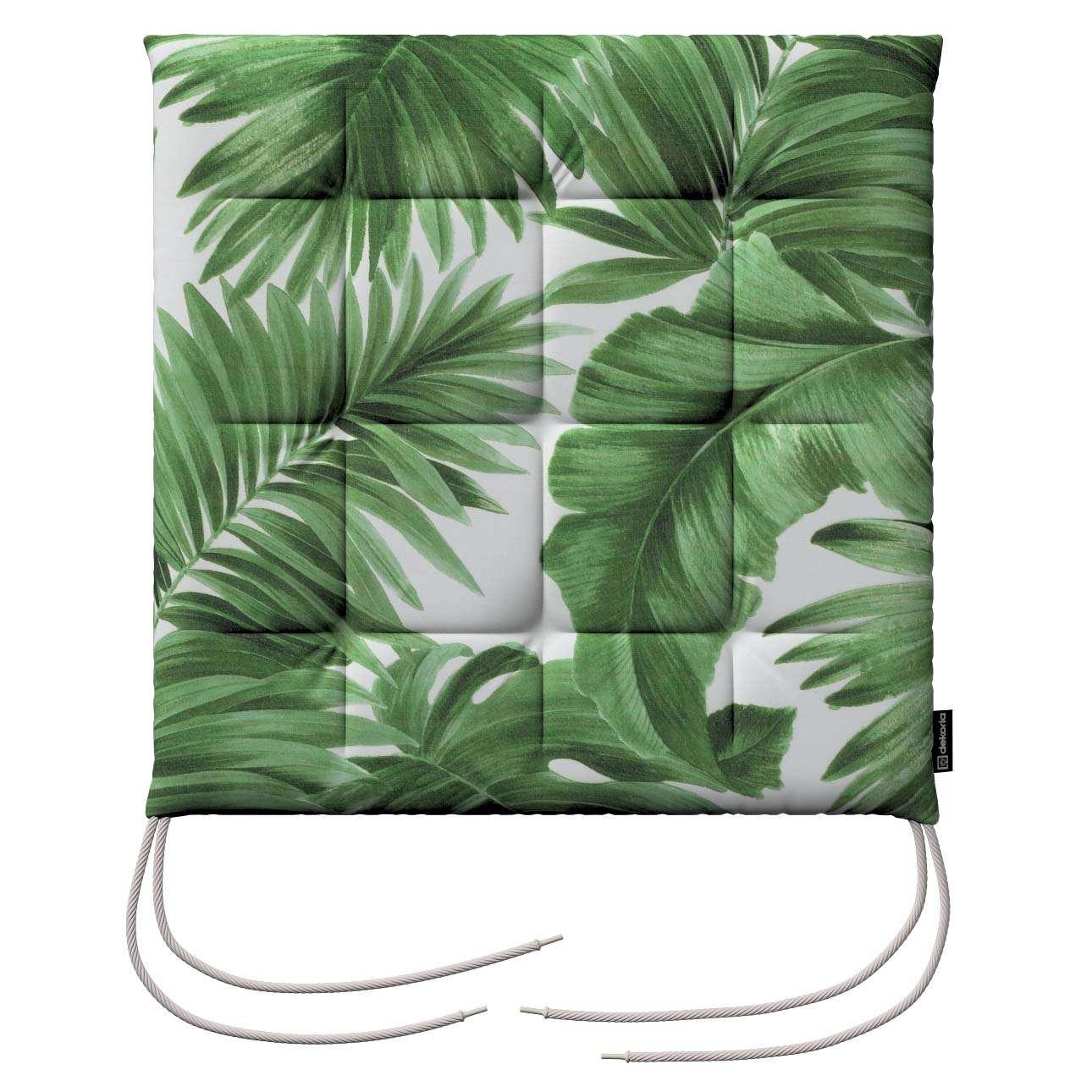Siedzisko Karol na krzesło w kolekcji Tropical Island, tkanina: 141-71