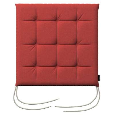 Charles seat pad with ties 142-33 muted red Collection SALE