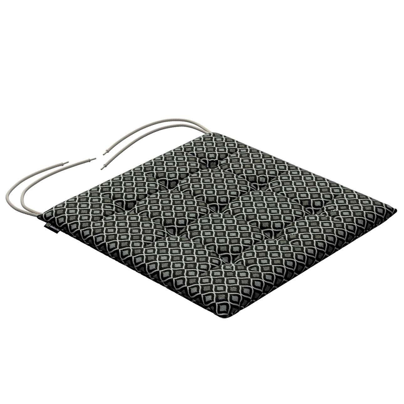 Siedzisko Karol na krzesło w kolekcji Black & White, tkanina: 142-86
