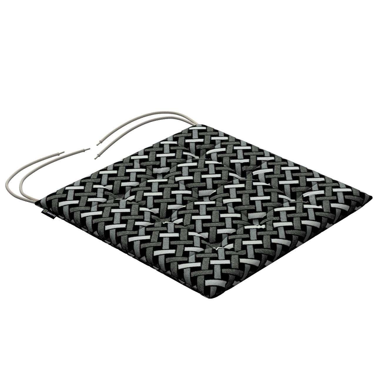 Siedzisko Karol na krzesło w kolekcji Black & White, tkanina: 142-87