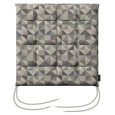 Charles seat pad with ties 142-84 grey- blue Collection SALE