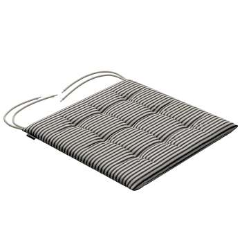 Charles seat pad with ties in collection Quadro, fabric: 142-75