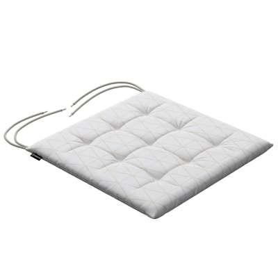Siedzisko Karol na krzesło 143-94 beżowe trójkąty na kremowo-białym tle Kolekcja Sunny