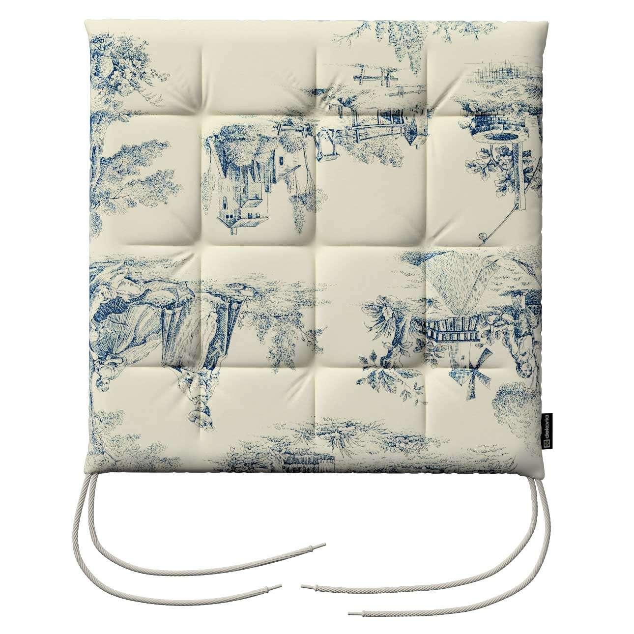Siedzisko Karol na krzesło 40x40x3,5cm w kolekcji Avinon, tkanina: 132-66