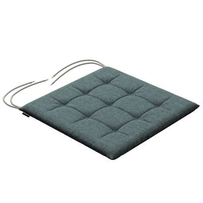 Charles seat pad with ties 704-85 gray blue chenille Collection City