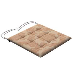 Karol seat cushion with ties 40 x 40 x 3,5 cm (16 x 16 x1,5 inch) in collection Damasco, fabric: 613-04