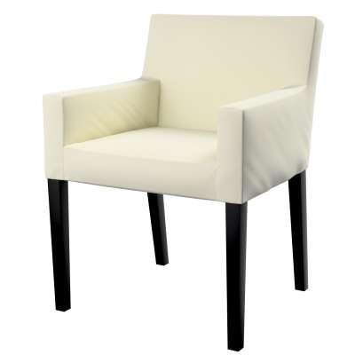Návlek na stoličku s opierkami Nils 704-10 Smotanová biela Kolekcia Velvet