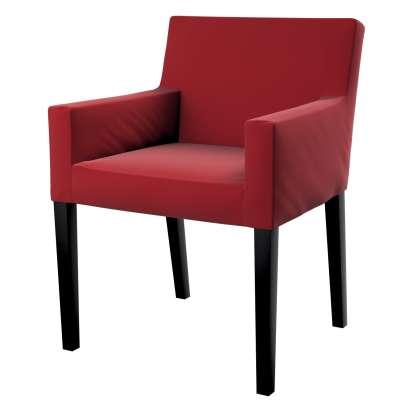 Návlek na stoličku s opierkami Nils 704-15 Intenzívna červená Kolekcia Velvet