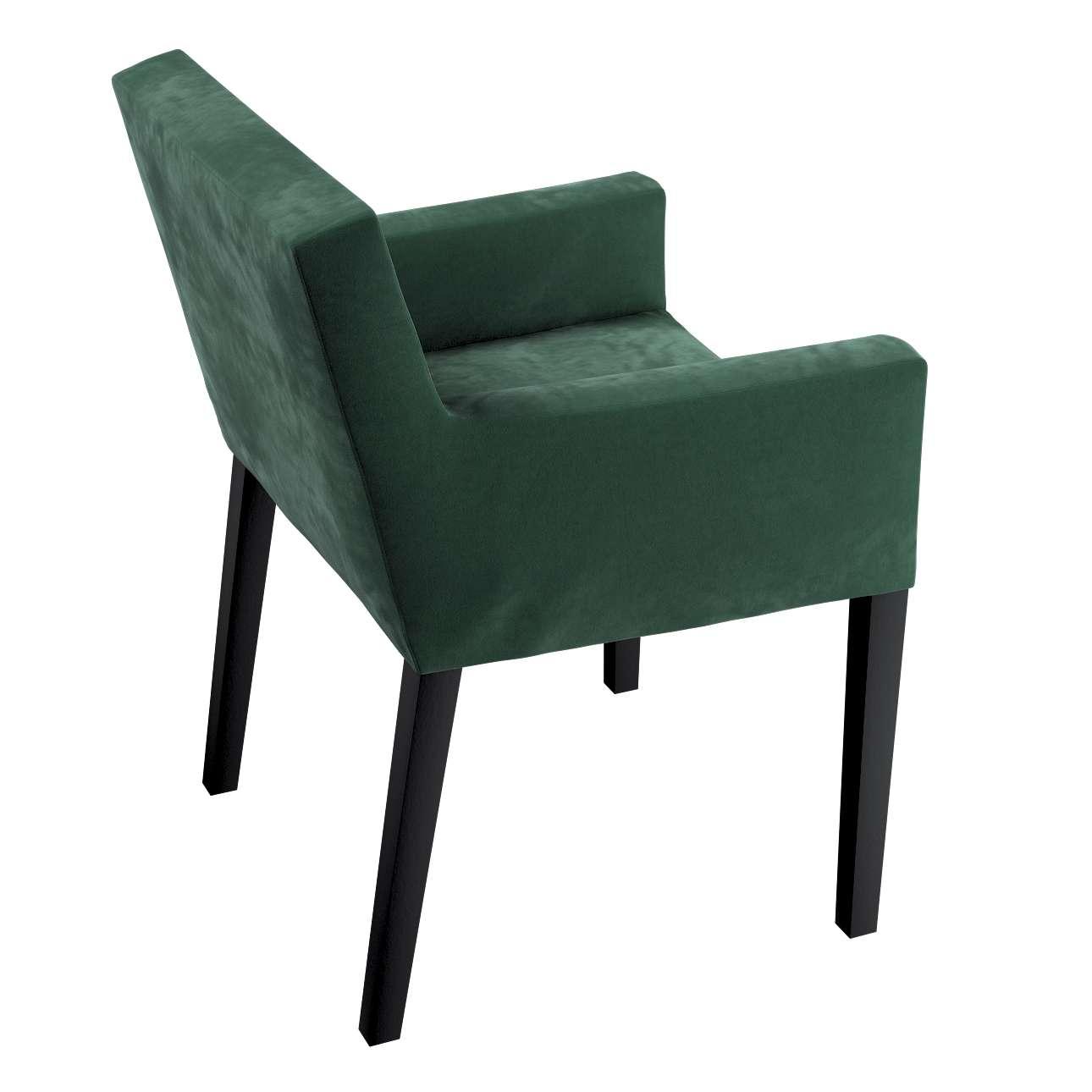 Návlek na stoličku s opierkami Nils V kolekcii Velvet, tkanina: 704-25