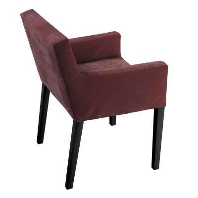 Nils chair cover 704-26 burgundy Collection Velvet